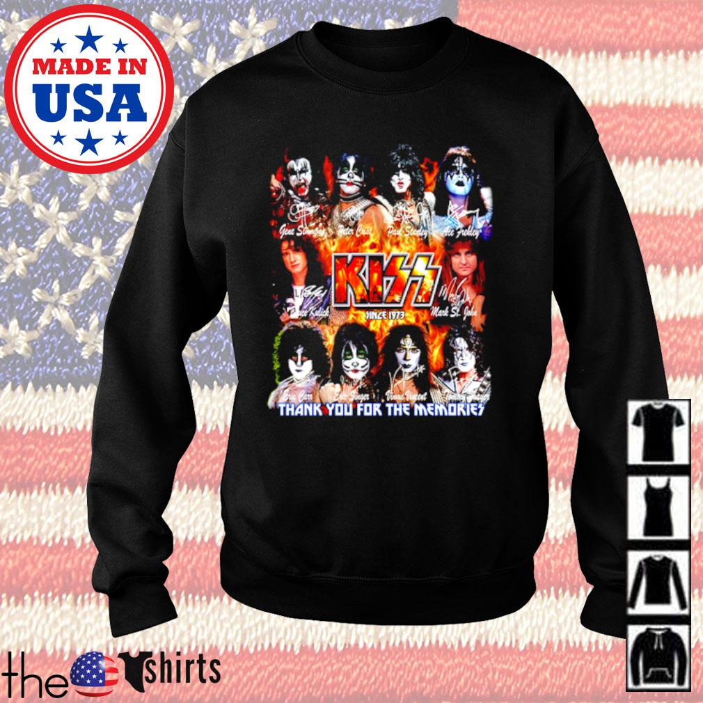 Kiss Band since 1973 thank you for the memories all members signatures s Sweater Black