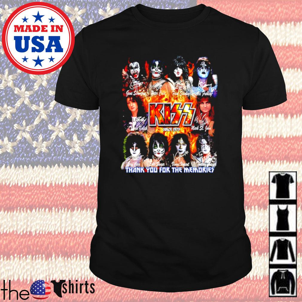 Kiss Band since 1973 thank you for the memories all members signatures shirt