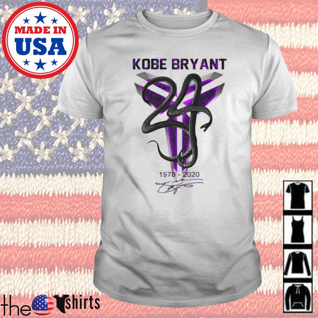 Kobe Bryant 1978-2020 signature shirt