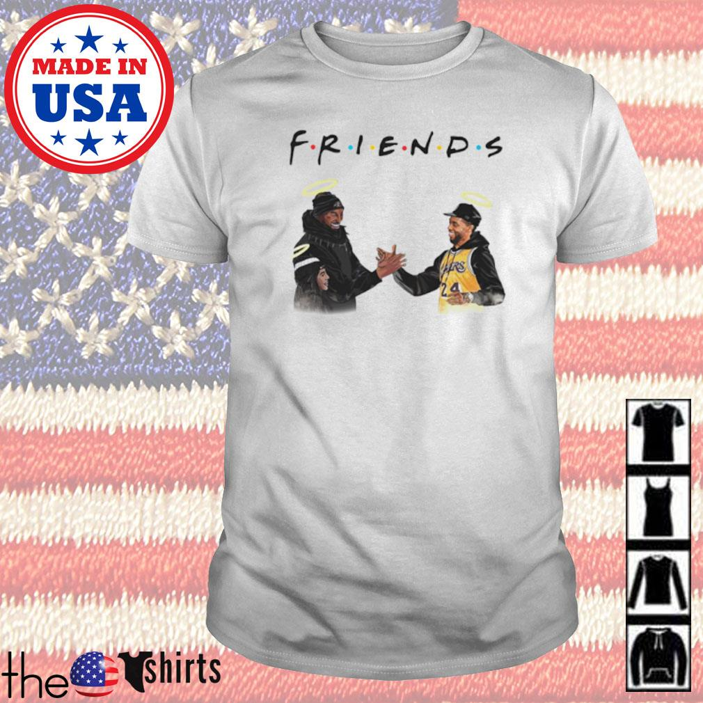 Kobe Bryant and Chadwick Boseman Friends TV Show shirt