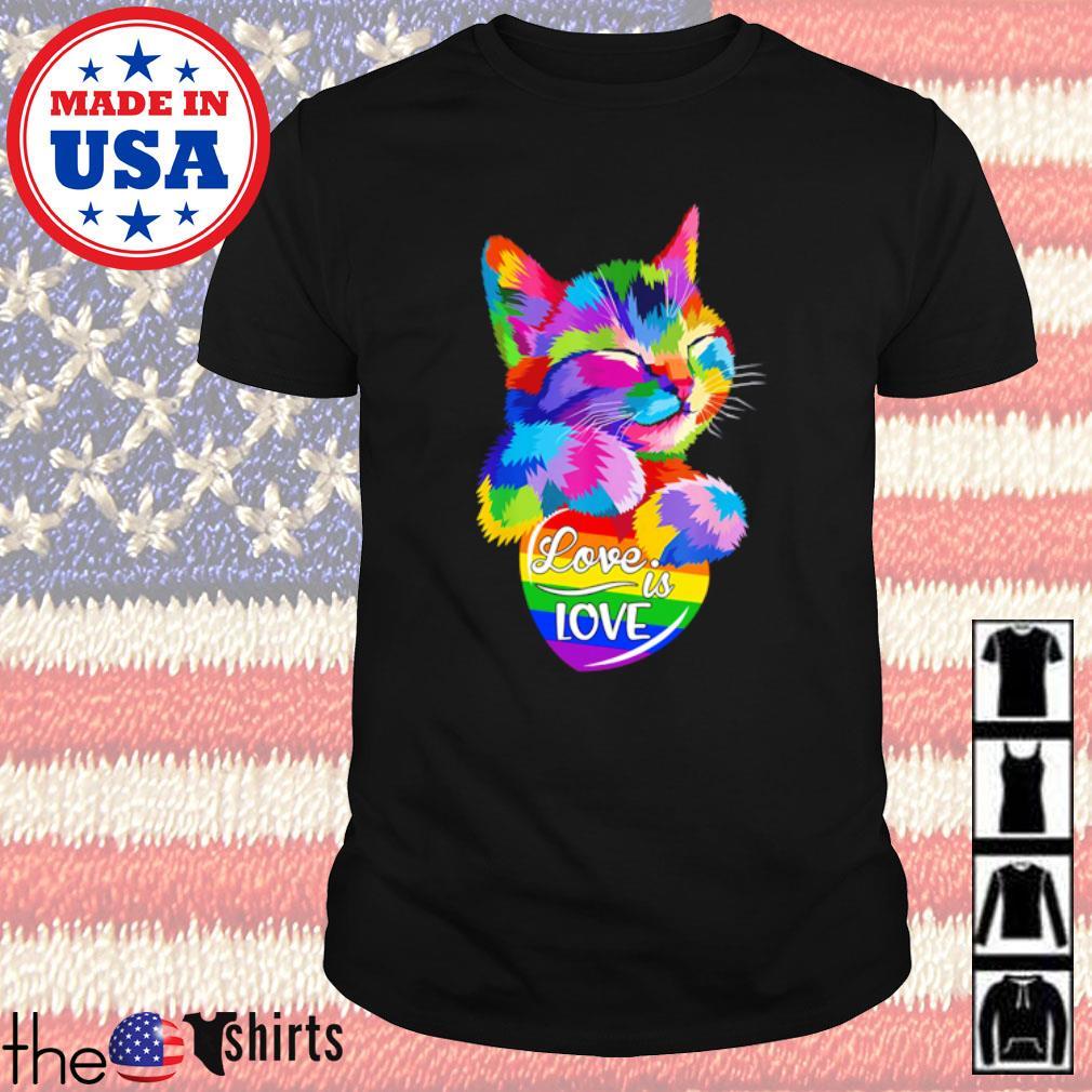 LGBT Pride cat love is love shirt