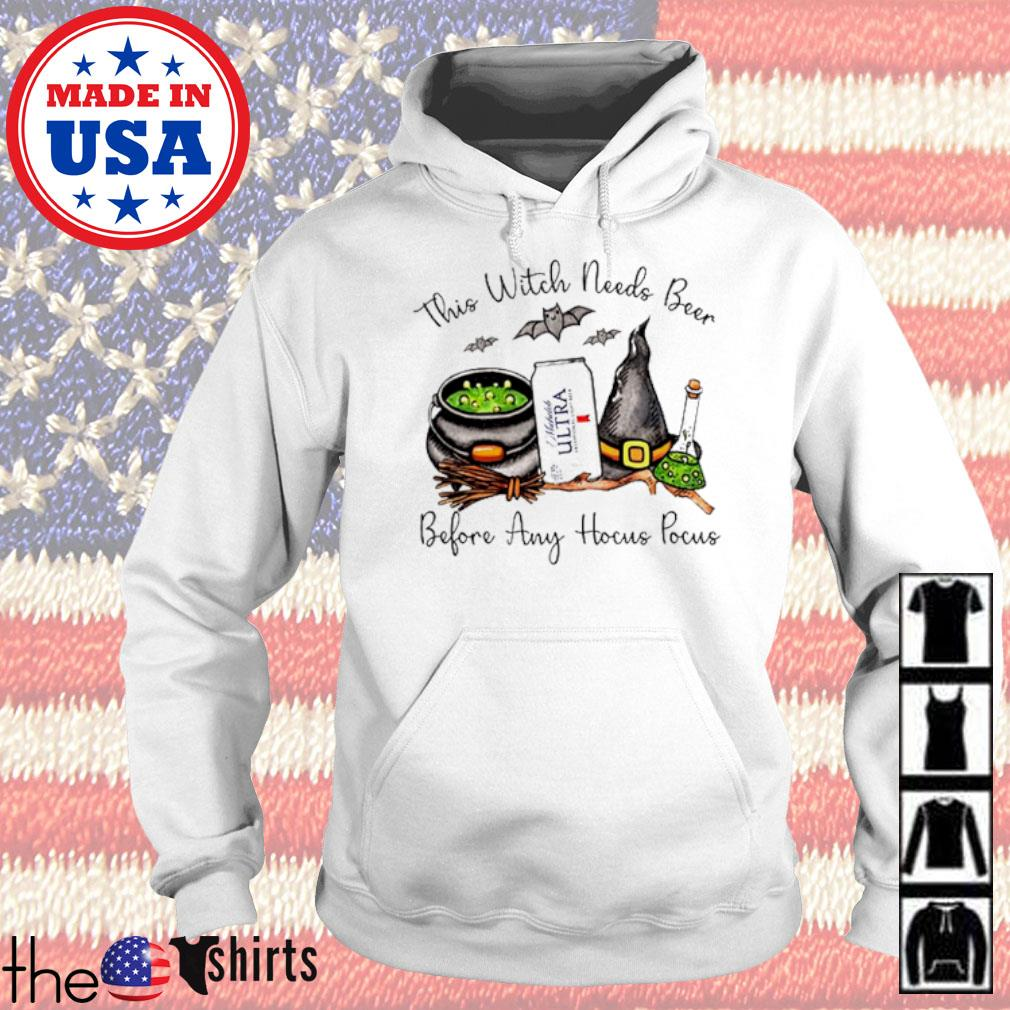 Michelob Ultra This witch needs beer before any Hocus Pocus s Hoodie White