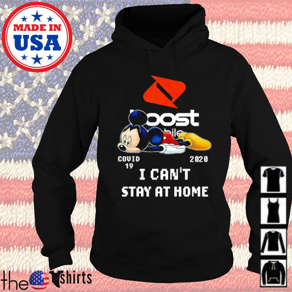 Mickey Mouse Boost Mobile COVID-19 2020 I can't stay at home s Hoodie Black