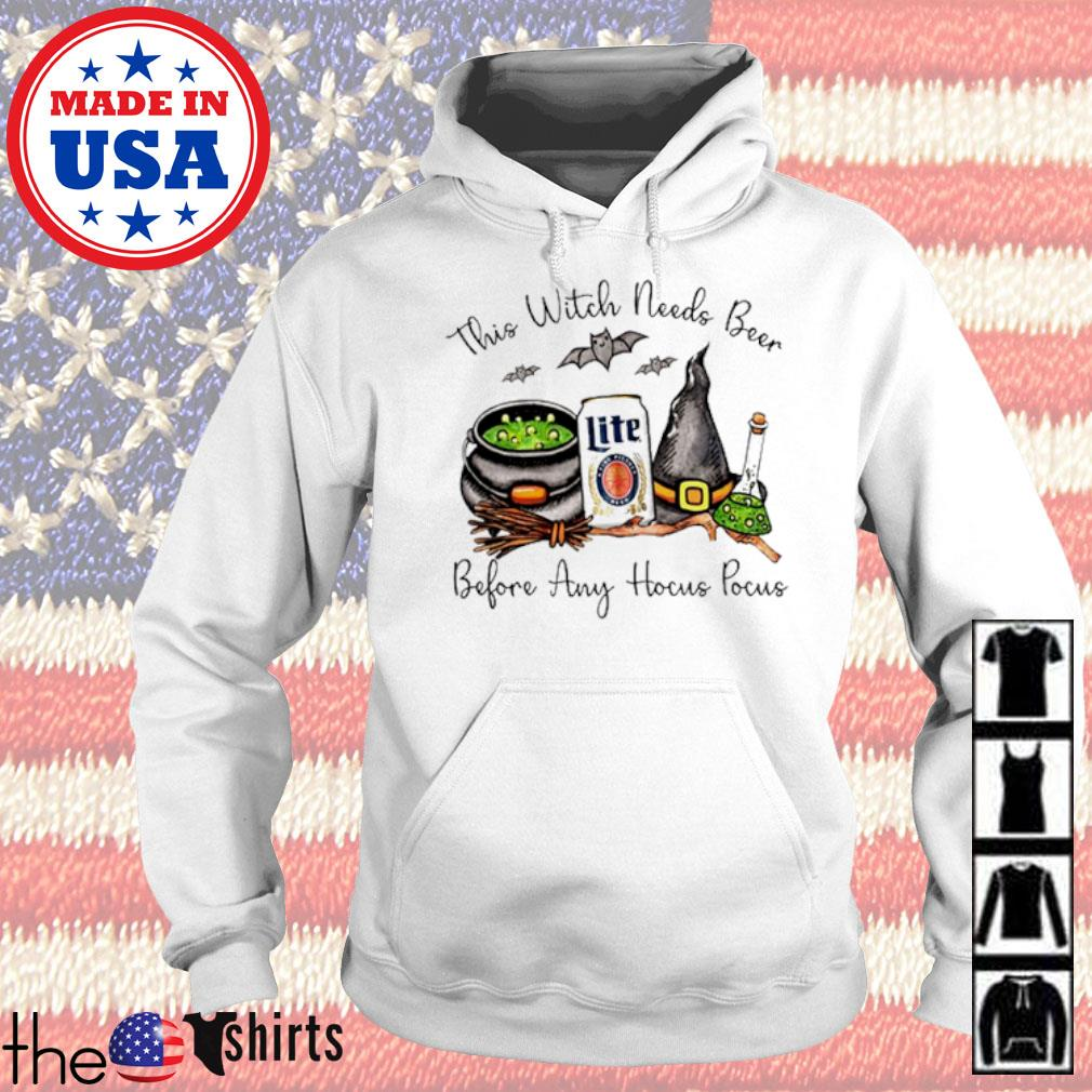 Miller Lite this witch needs beer before any Hocus Pocus s Hoodie White