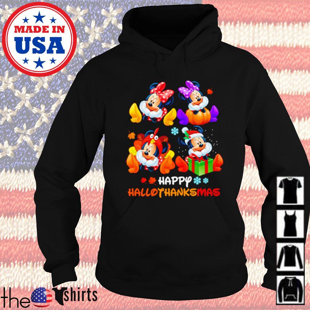 Minnie Mouse Happy Hallothanksmas Halloween and Christmas s Hoodie Black
