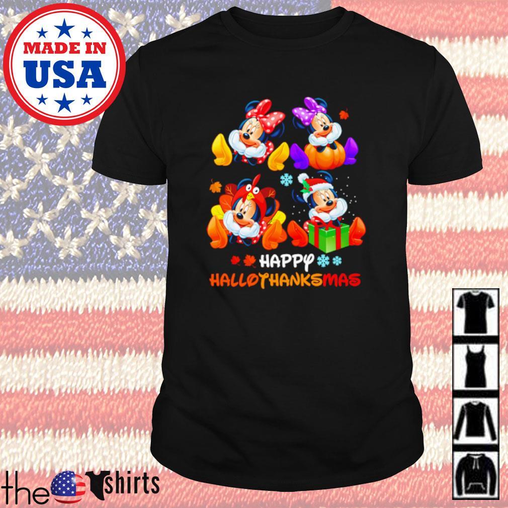 Minnie Mouse Happy Hallothanksmas Halloween and Christmas shirt