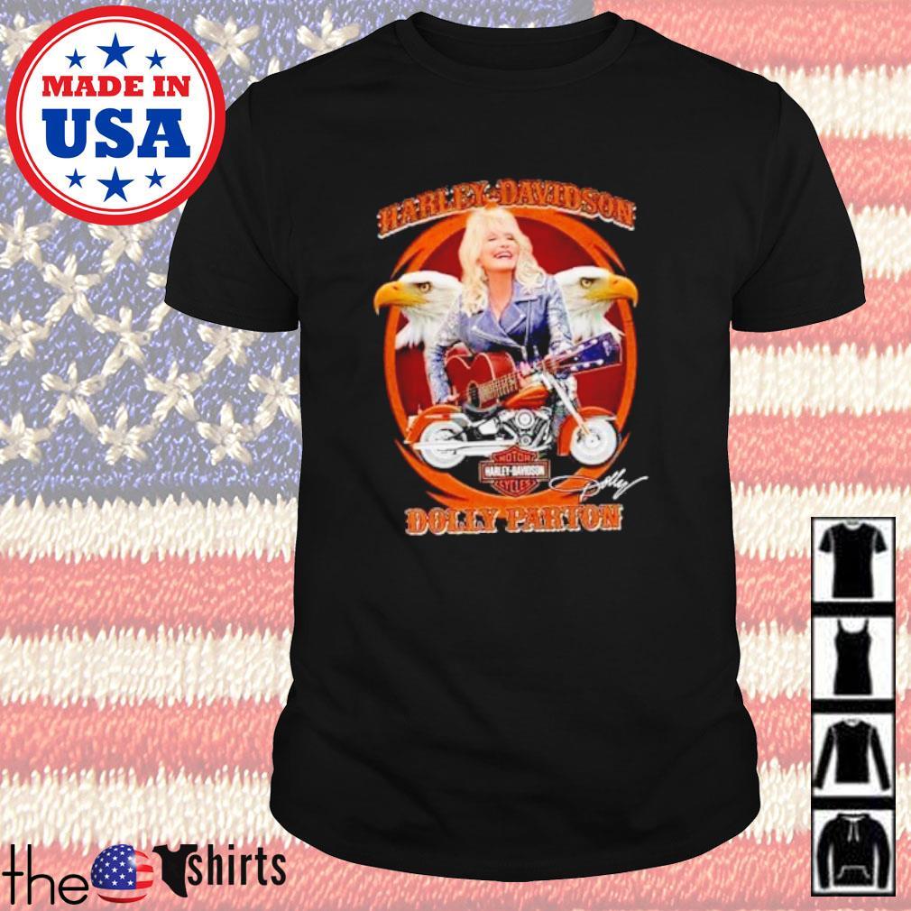 Motor Harley-Davidson Cycles Dolly Parton signature shirt