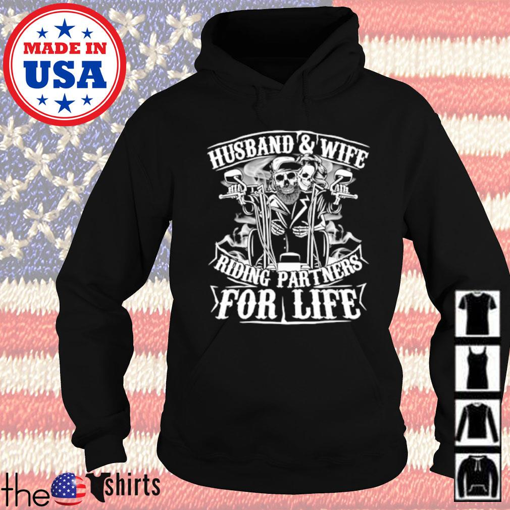 Motorcycle husband and wife riding partners for life s Hoodie Black