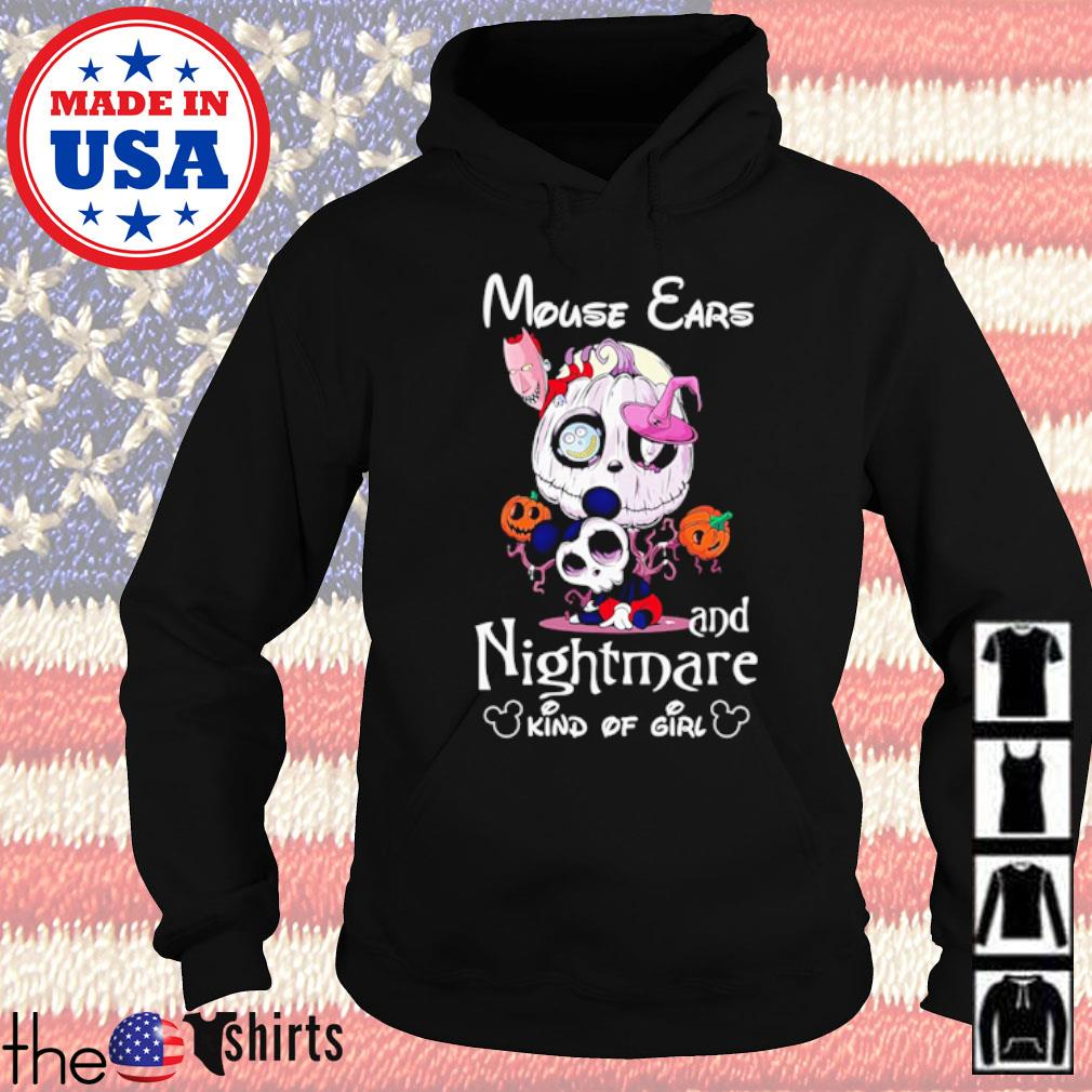 Mouse ears and Nightmare kind of girl s Hoodie Black