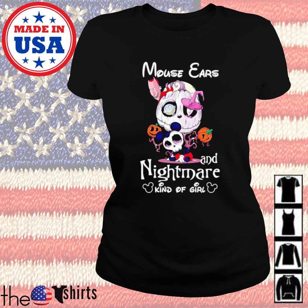 Mouse ears and Nightmare kind of girl s Ladies Tee Black