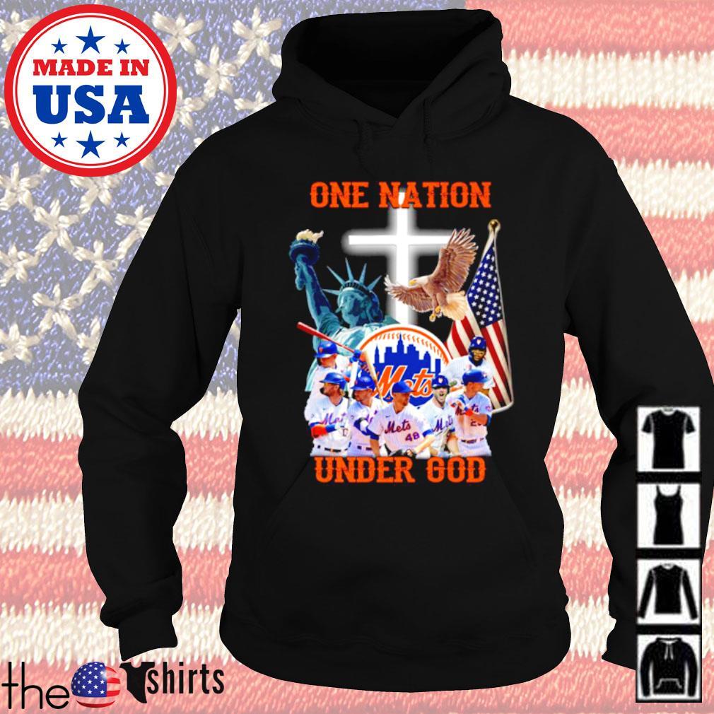 New York Mets Baseball team one nation under God s Hoodie Black