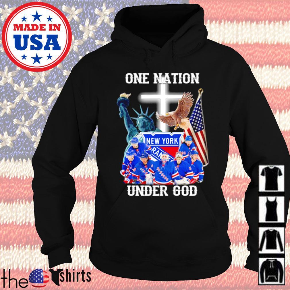 New York Rangers Ice hockey team one nation under God s Hoodie Black
