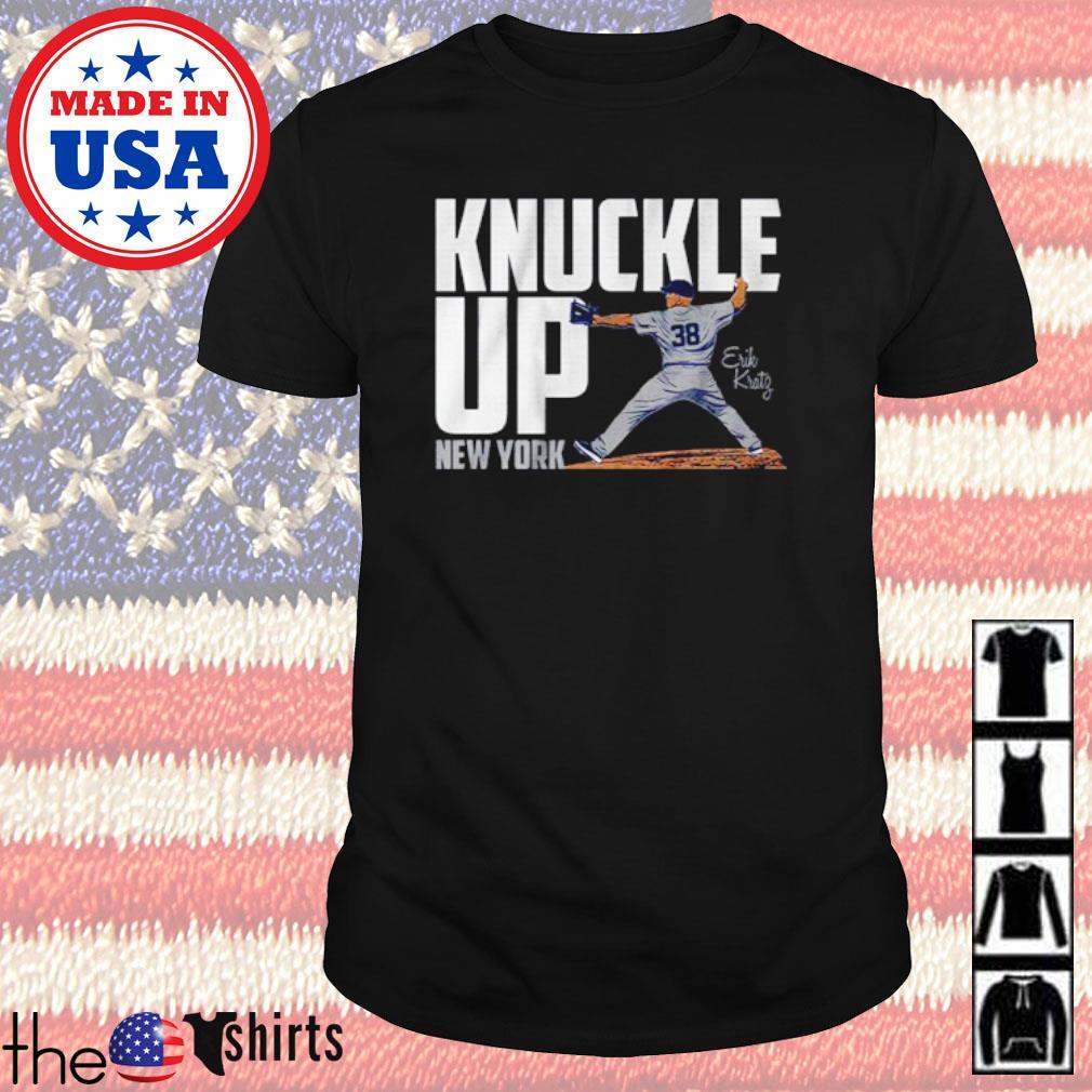 New York Yankees Erik Kratg knuckle up New York shirt