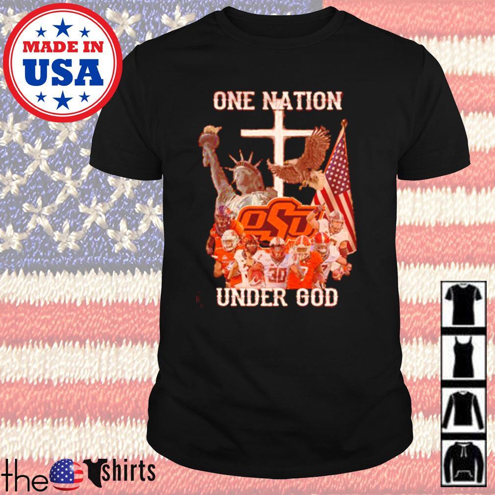 Oklahoma State Cowboys one nation under God shirt