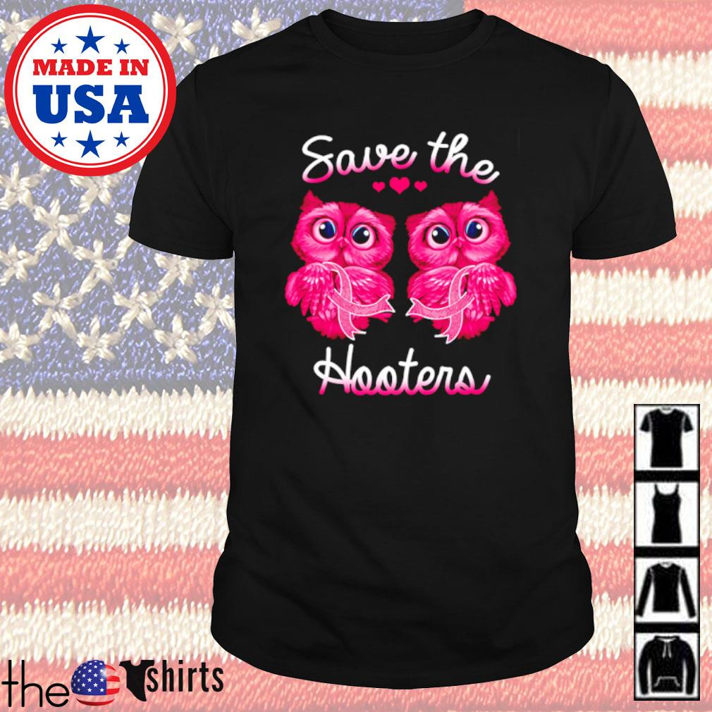 owls hold Breast Cancer awareness pink save the hooters shirt