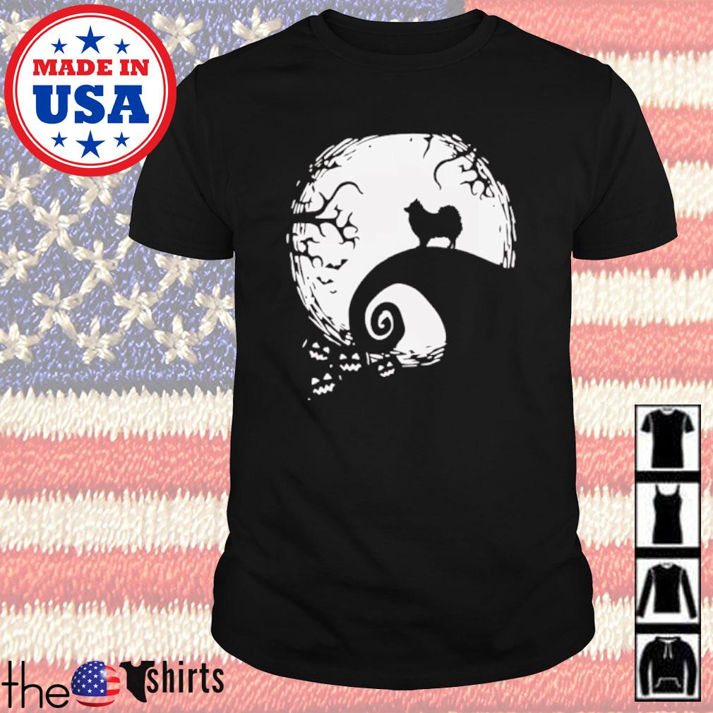 Pomeranian on the moon Halloween shirt
