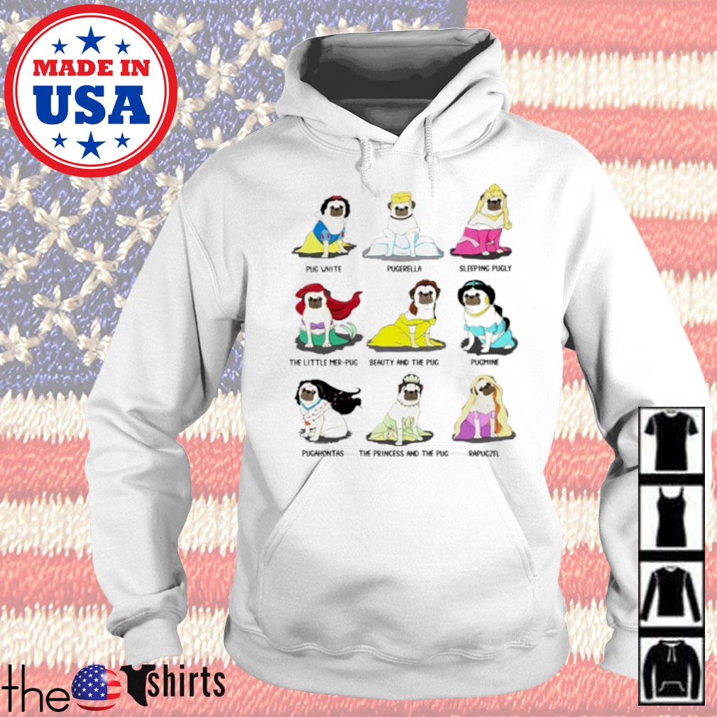 Pug Princess pug white pugerella sleeping pugly the little mer-pug s Hoodie White