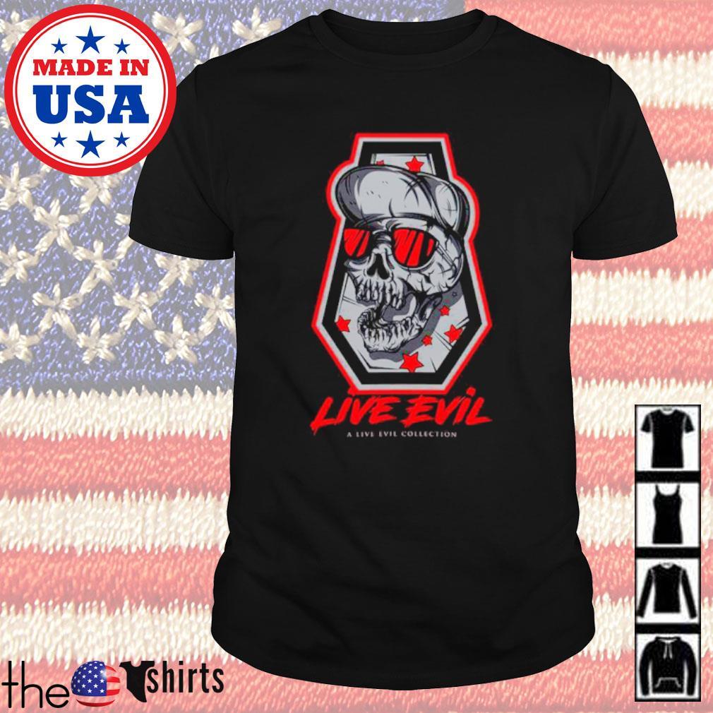 Skull devil Live Evil a live ever collection shirt