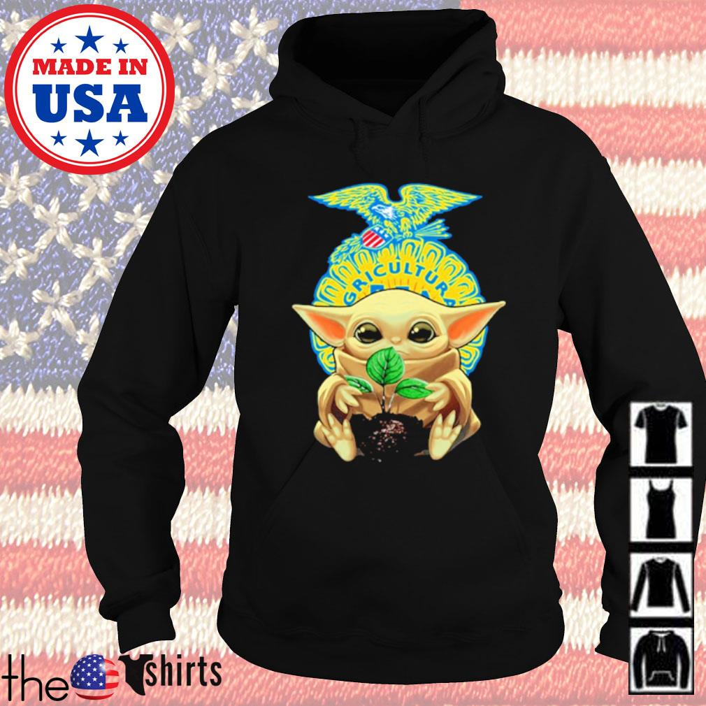Star Wars Baby Yoda hug FFA emblem s Hoodie Black
