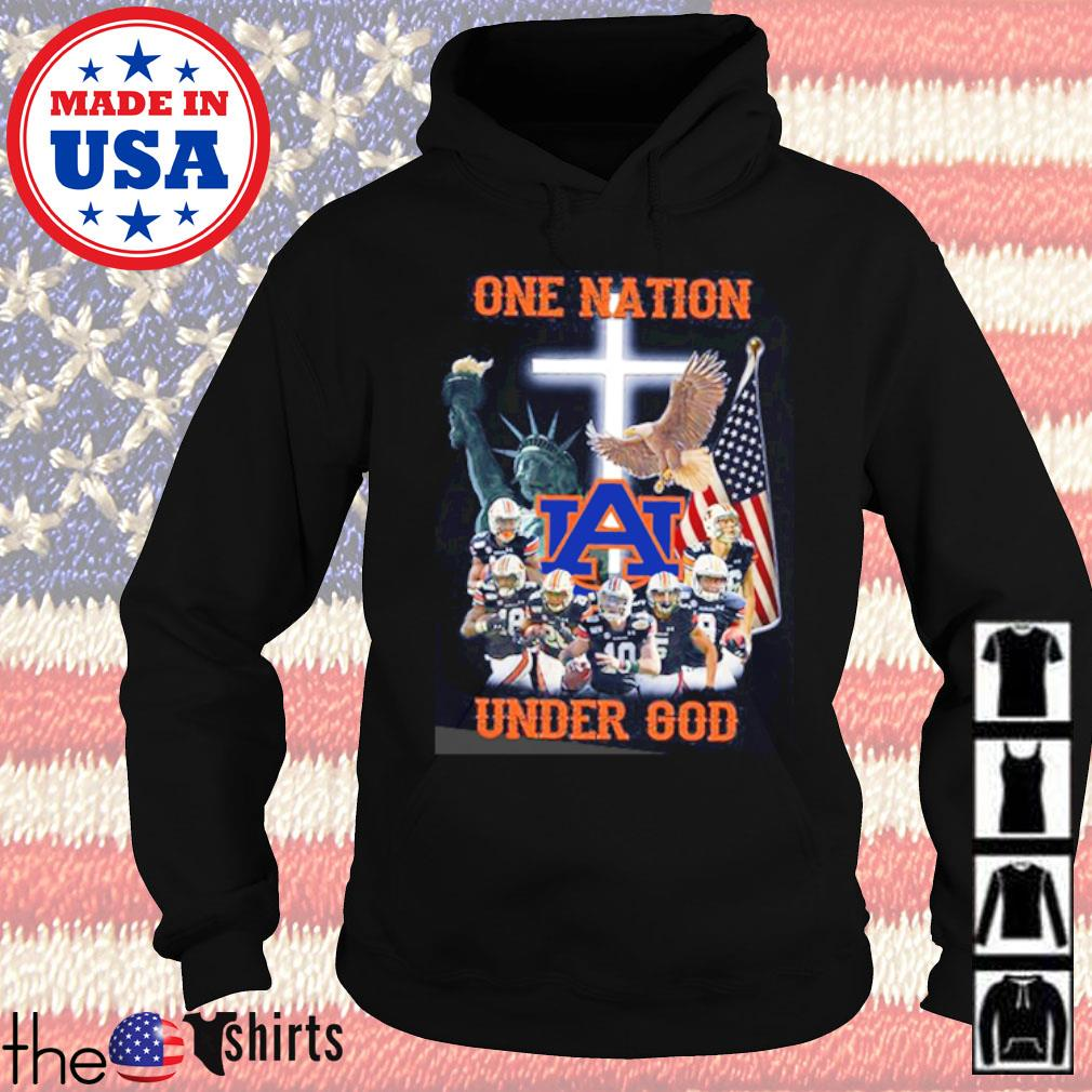 Statue of Liberty American Auburn Tigers one nation under God s Hoodie Black