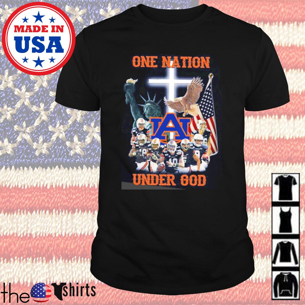 Statue of Liberty American Auburn Tigers one nation under God shirt