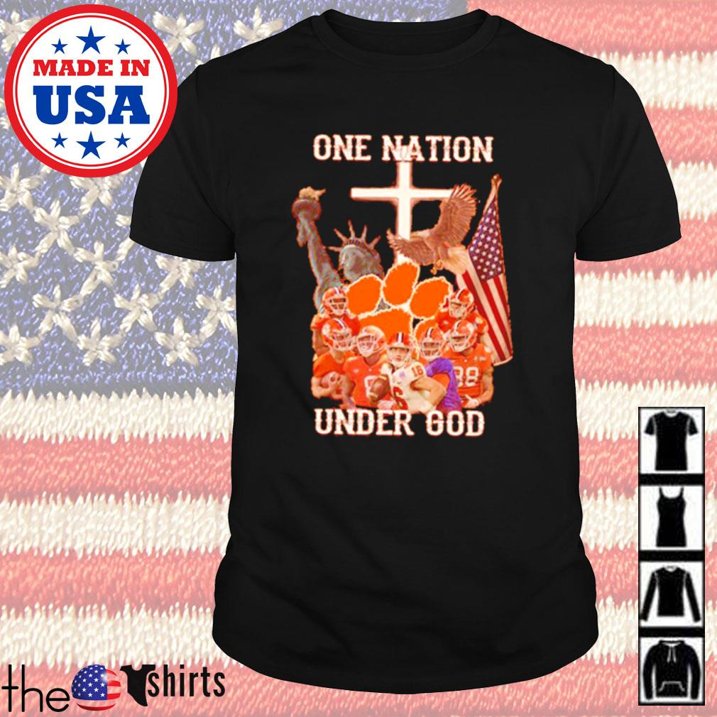 Statue of Liberty American Clemson Tigers one nation under God shirt