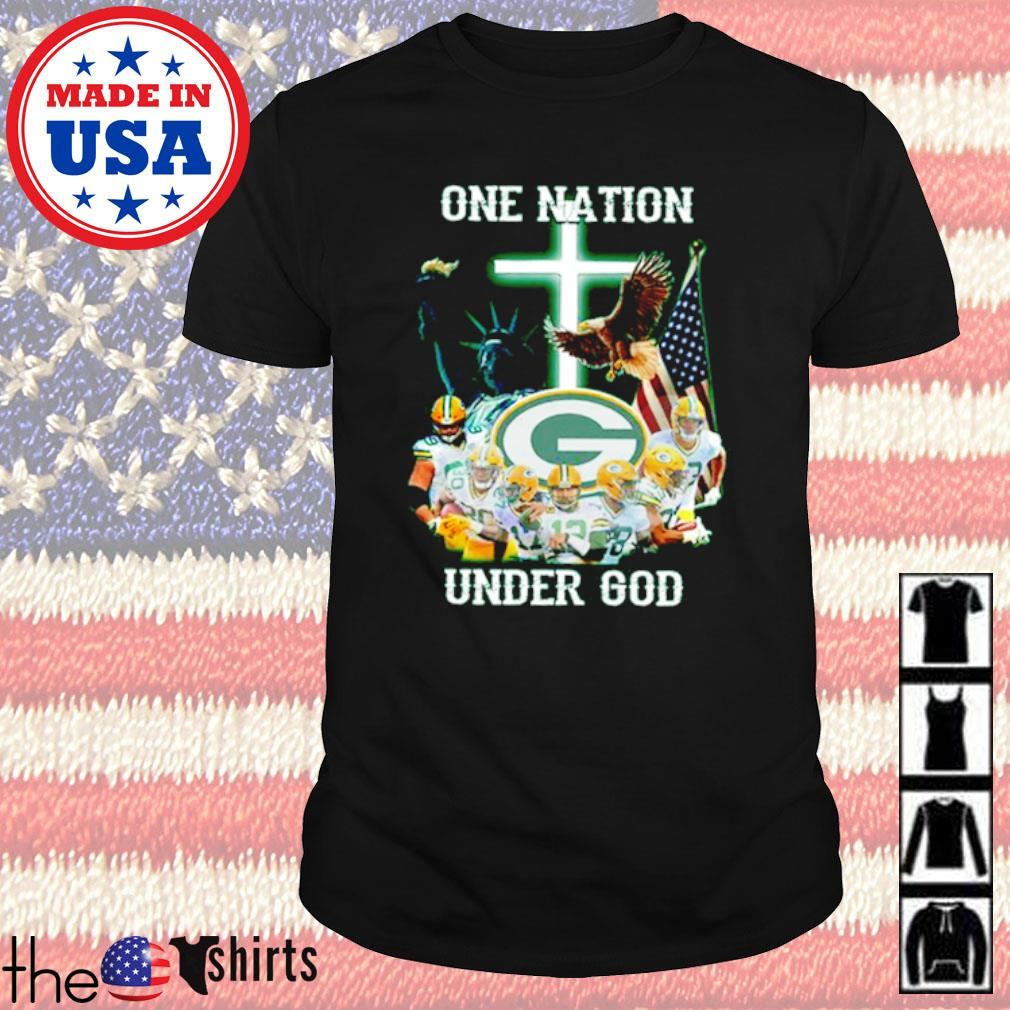 Statue of Liberty American Green Bay Packers one nation under God shirt