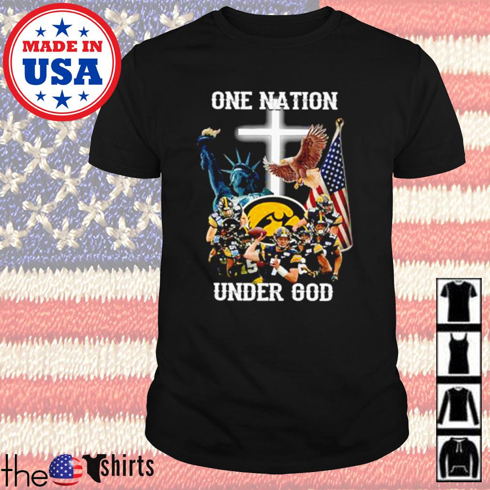 Statue of Liberty American Iowa Hawkeyes one nation under god shirt