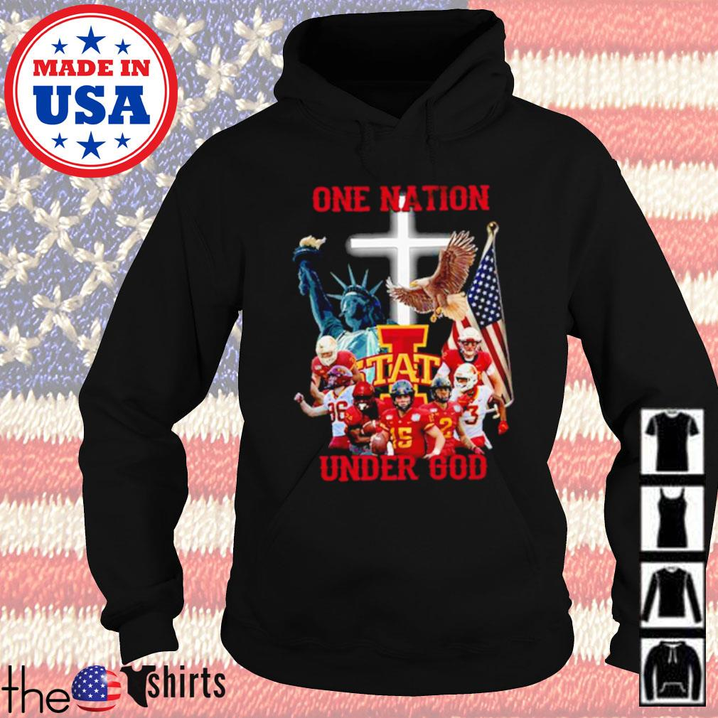 Statue of Liberty American Iowa State Cyclones one nation under God s Hoodie Black