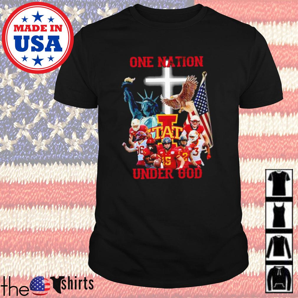 Statue of Liberty American Iowa State Cyclones one nation under God shirt