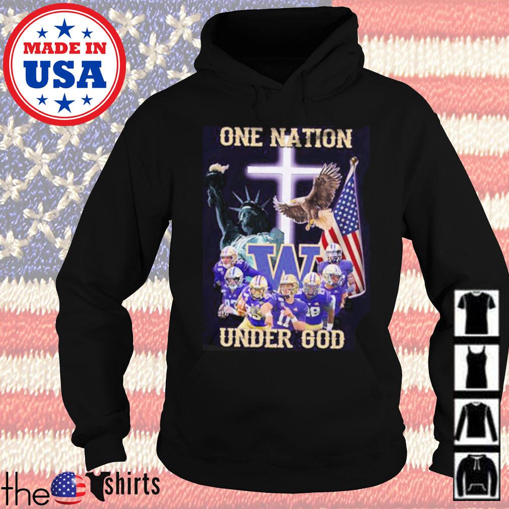 Statue of Liberty American Washington Huskies one nation under God s Hoodie Black