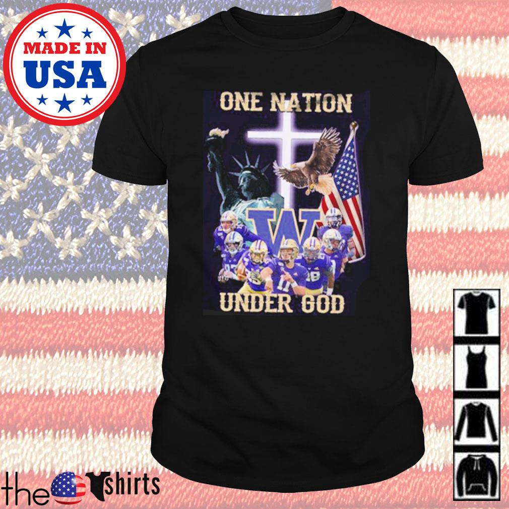 Statue of Liberty American Washington Huskies one nation under God shirt