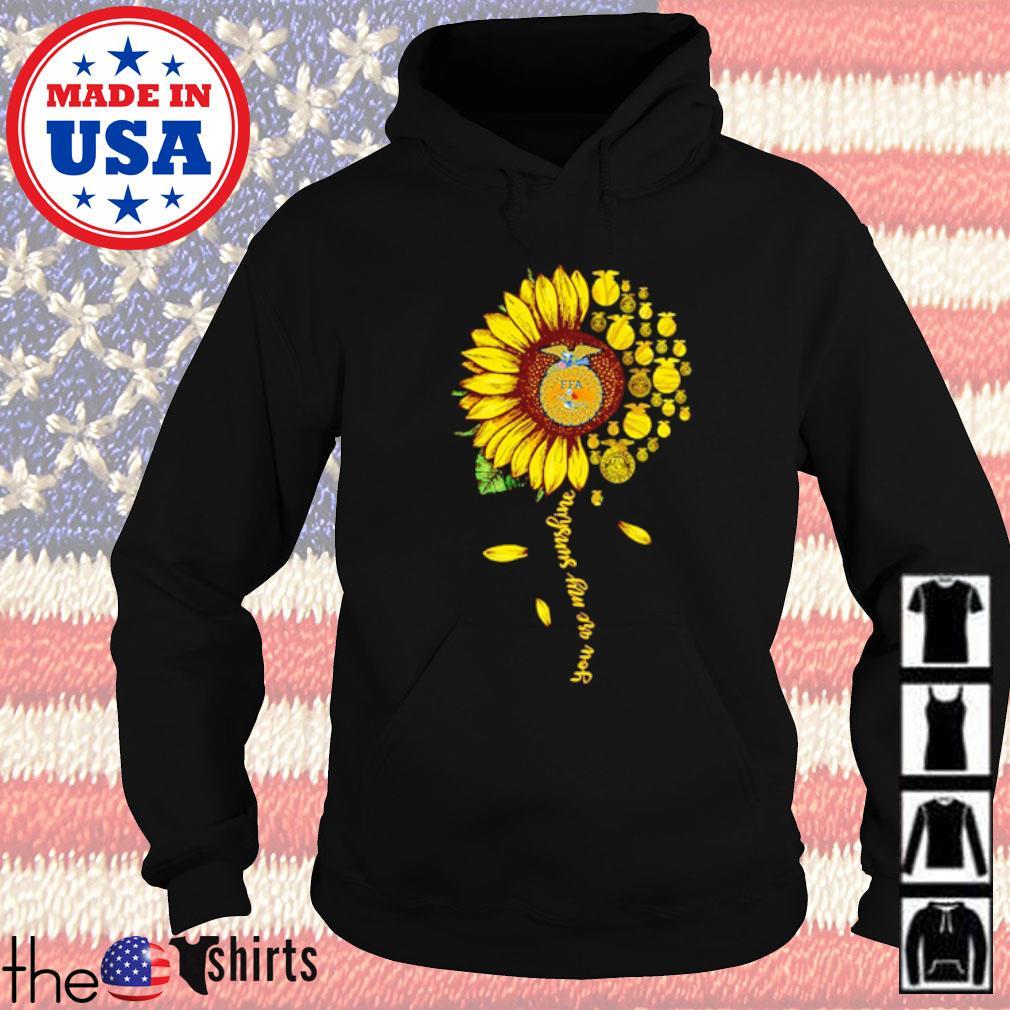 Sunflower National FFA Organization you are my sunshine s Hoodie Black