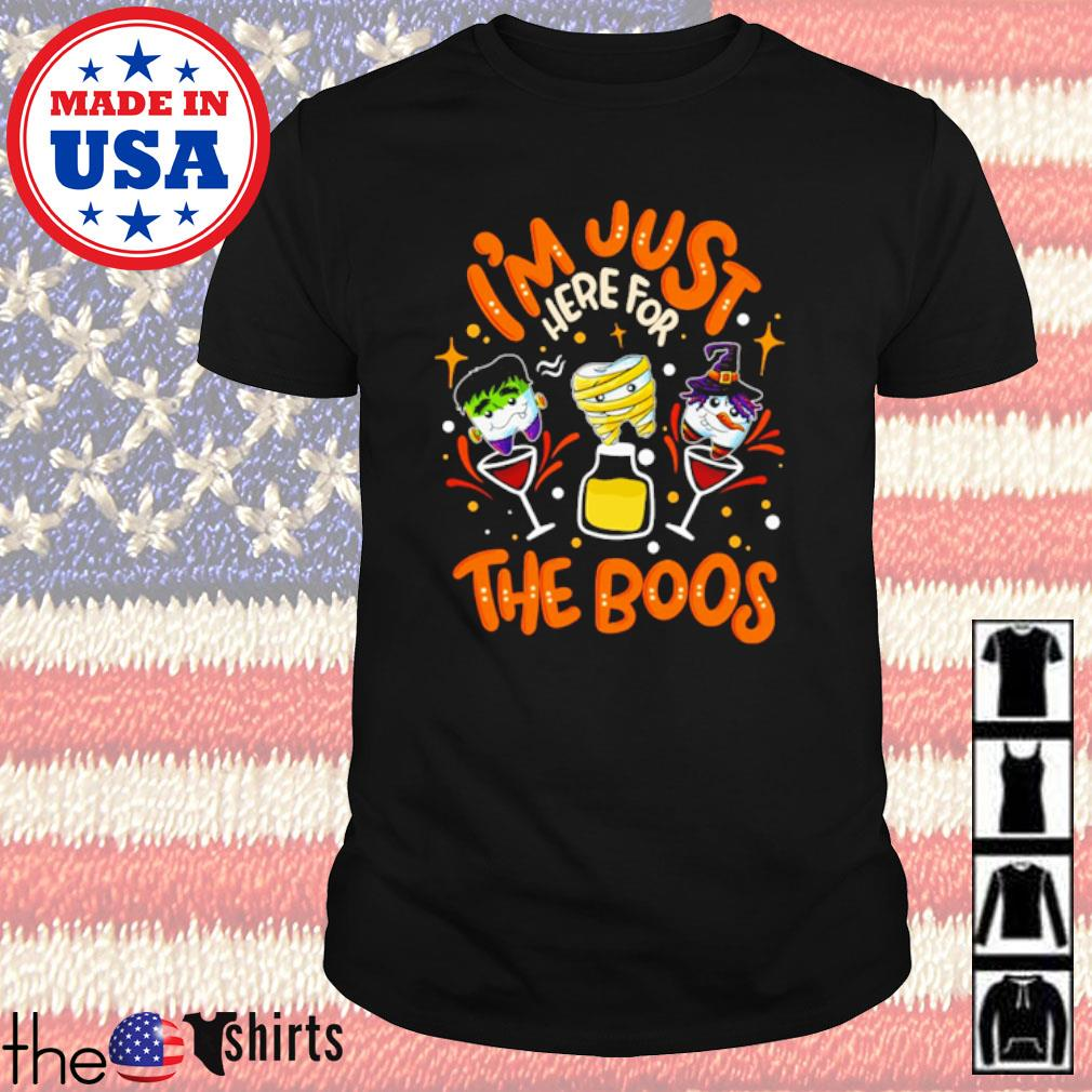 Teeths Halloween I'm just here for the boos shirt