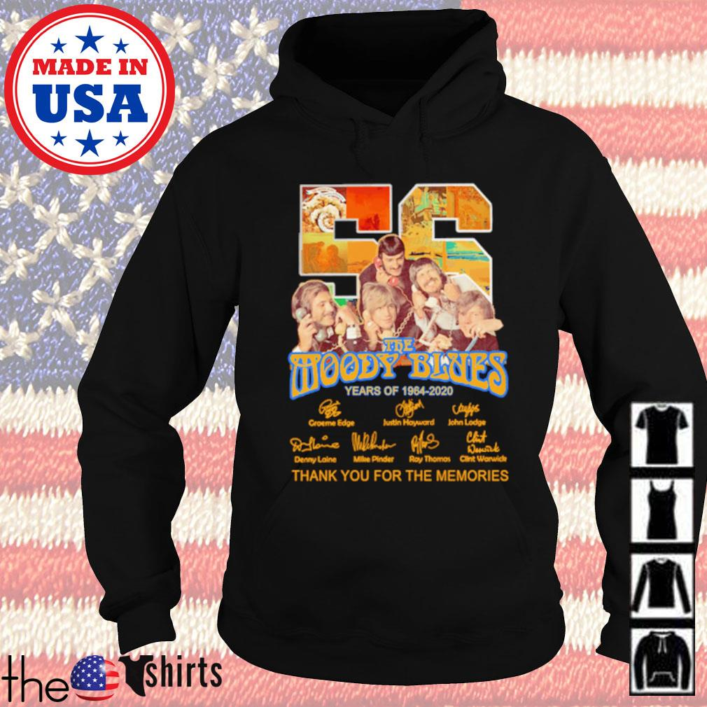 Thank you for the memories 56 Years of The Moody Blues 1964-2020 signatures s Hoodie Black