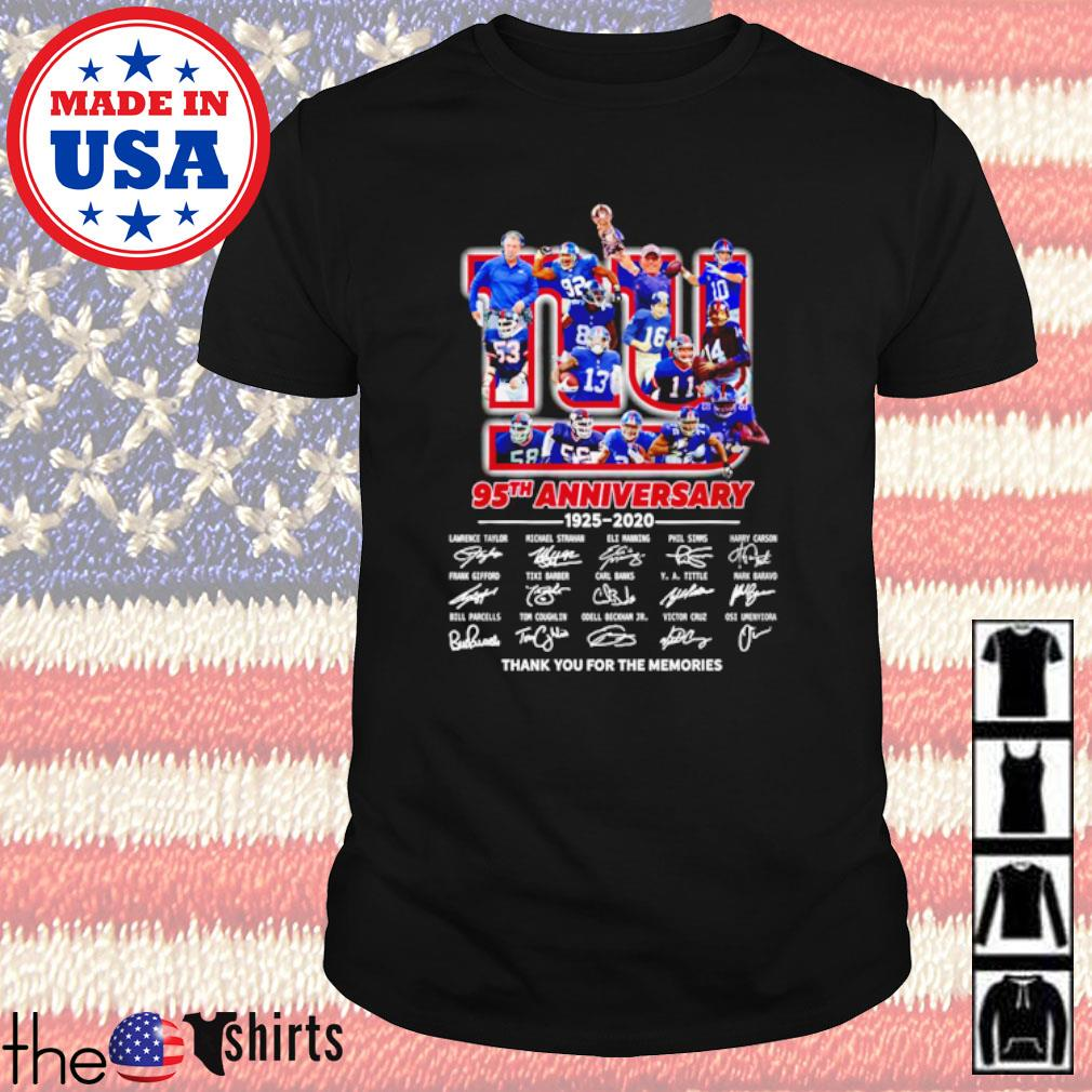 Thank you for the memories New York Giants 95th Anniversary 1925-2020 all players signatures shirt
