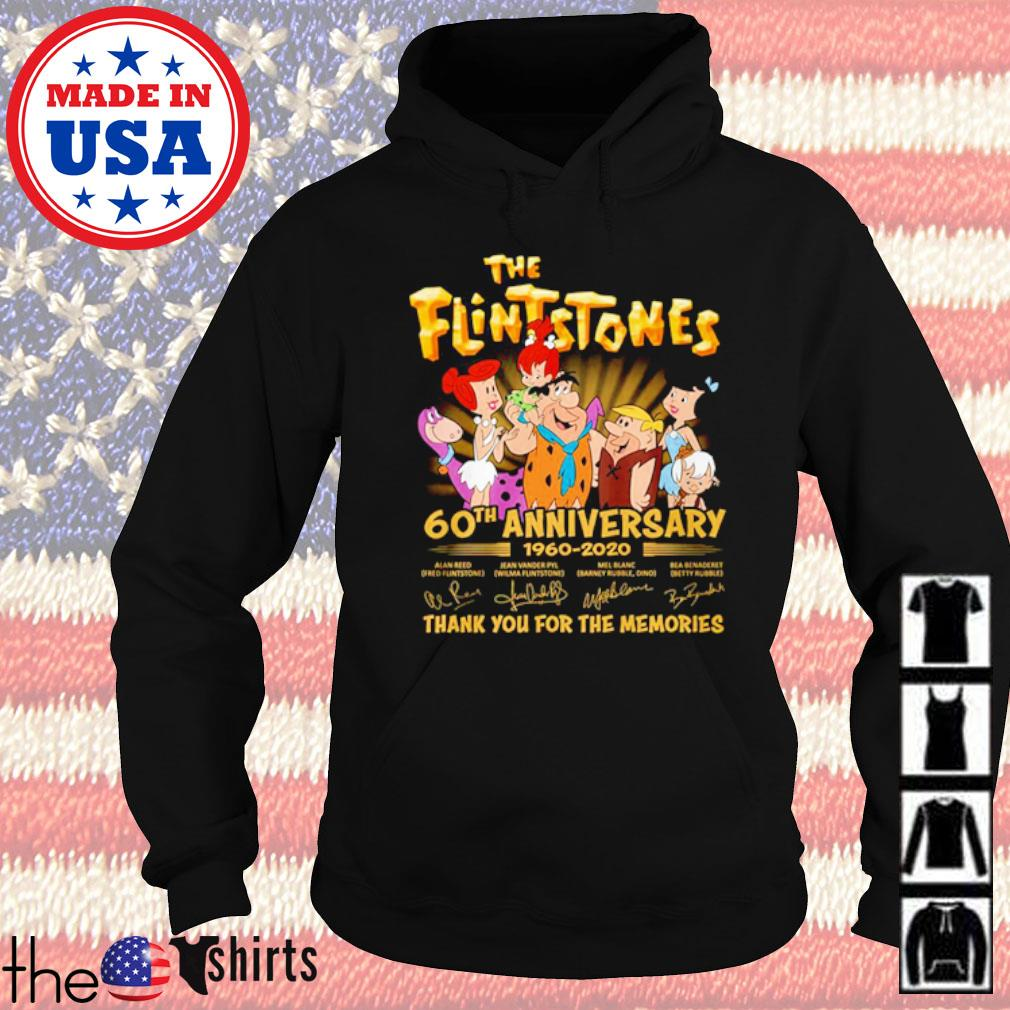 Thank you for the memories The Flintstones 60th Anniversary 1960-2020 signatures s Hoodie Black