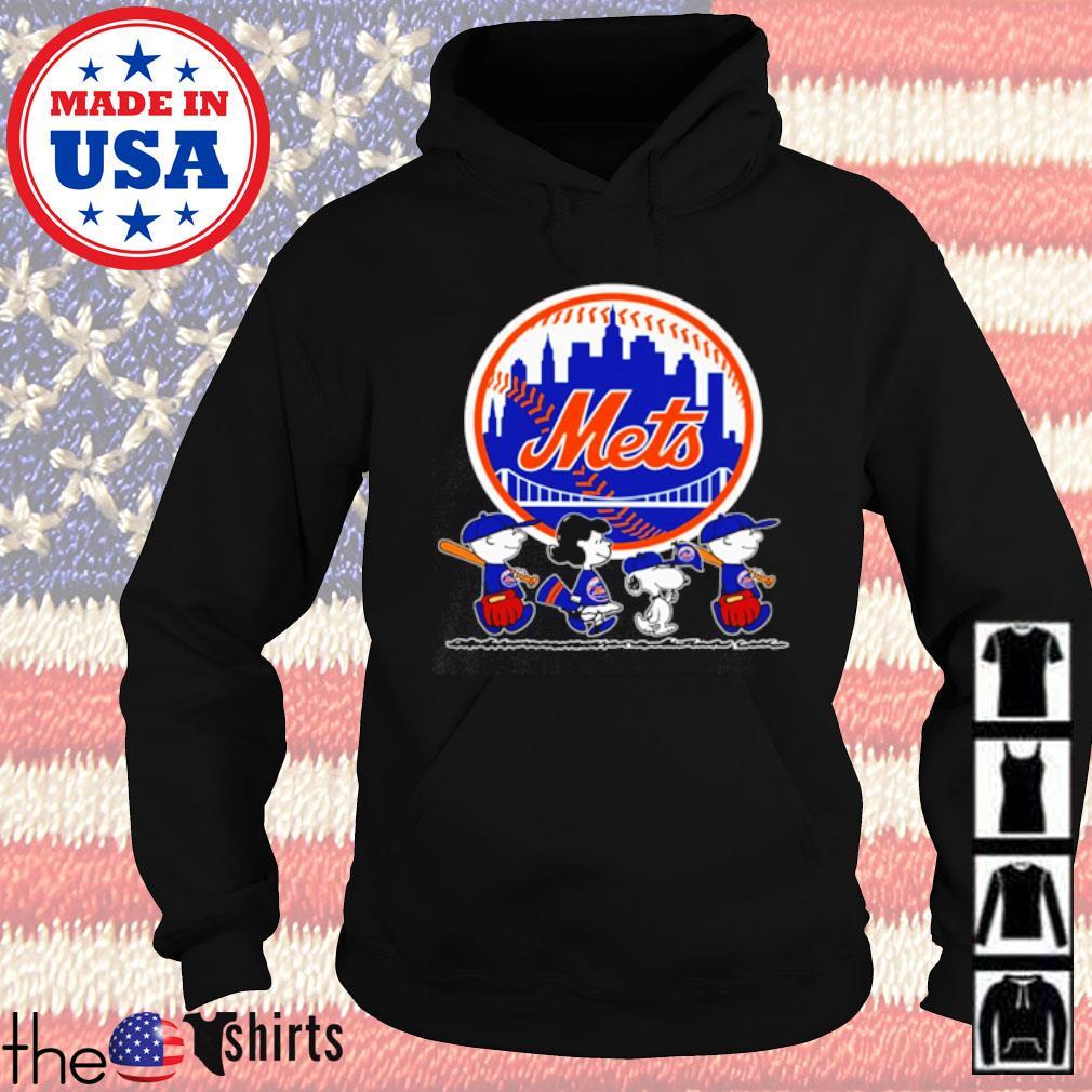 The Peanuts Snoopy Charlie Brown and Friends New York Mets s Hoodie Black