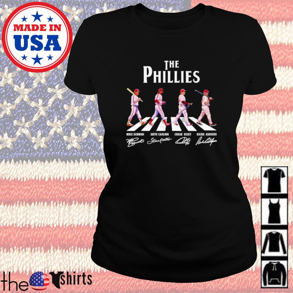The Phillies Abbey Road all players signature s Ladies Tee Black