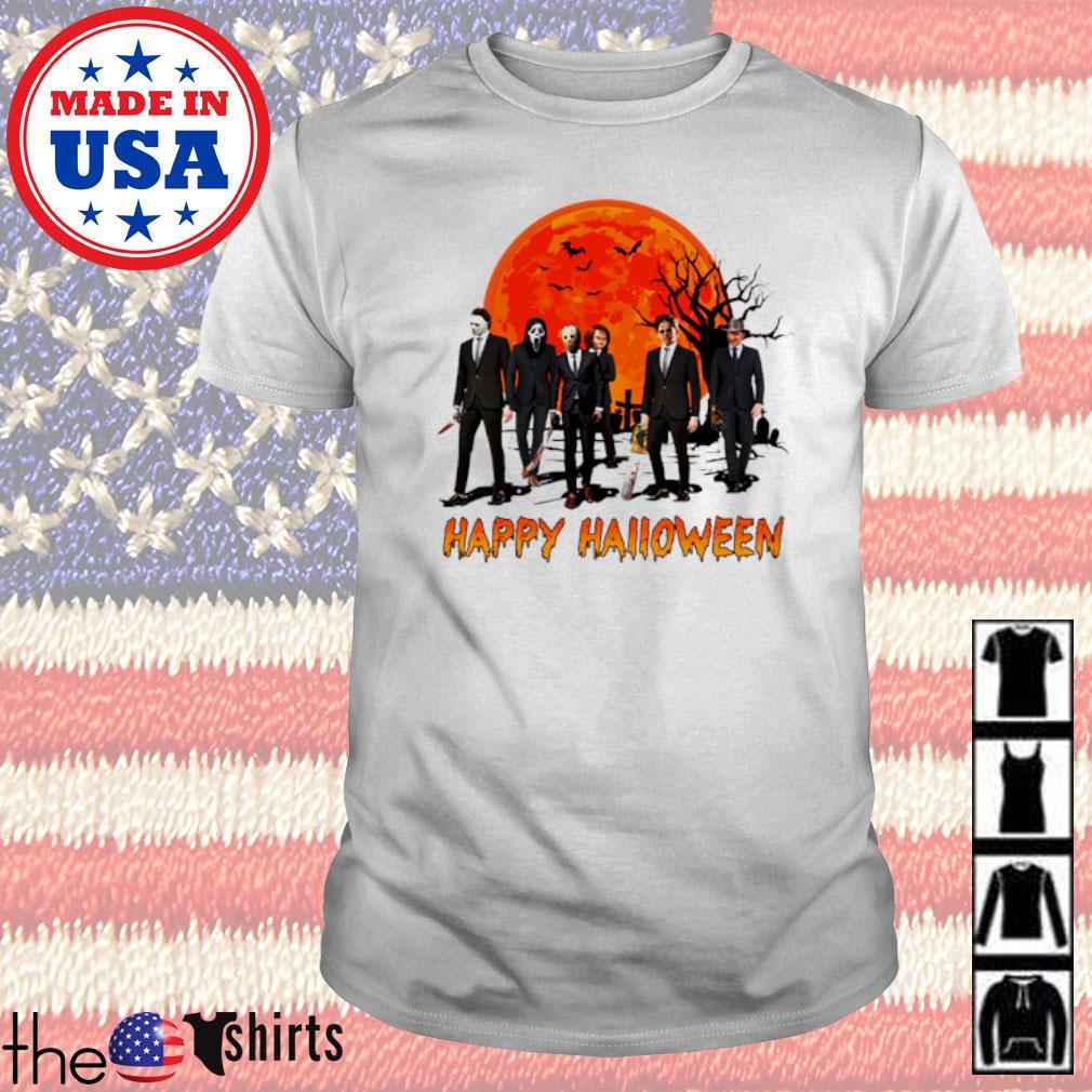 Tombstone horor face Happy Halloween blood moon shirt