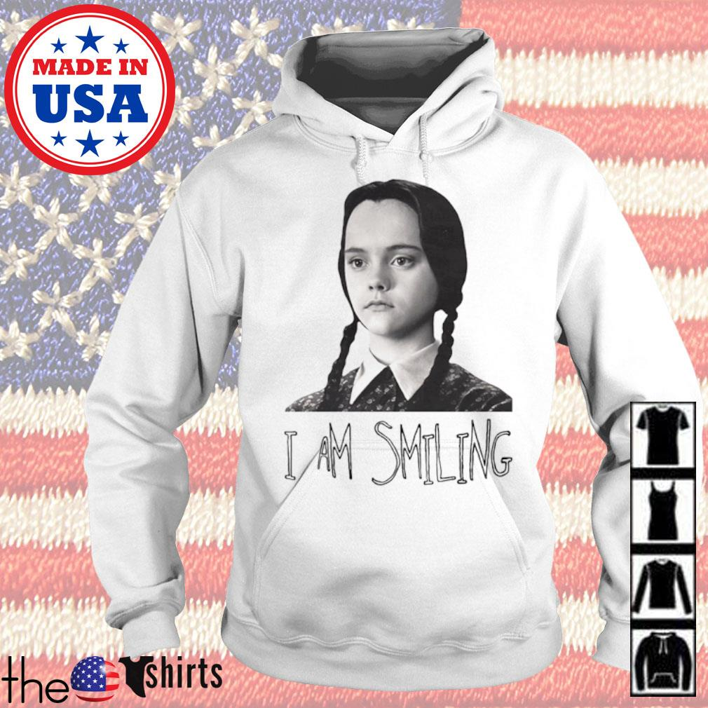 Wednesday Addams Fictional character I am smiling s Hoodie White