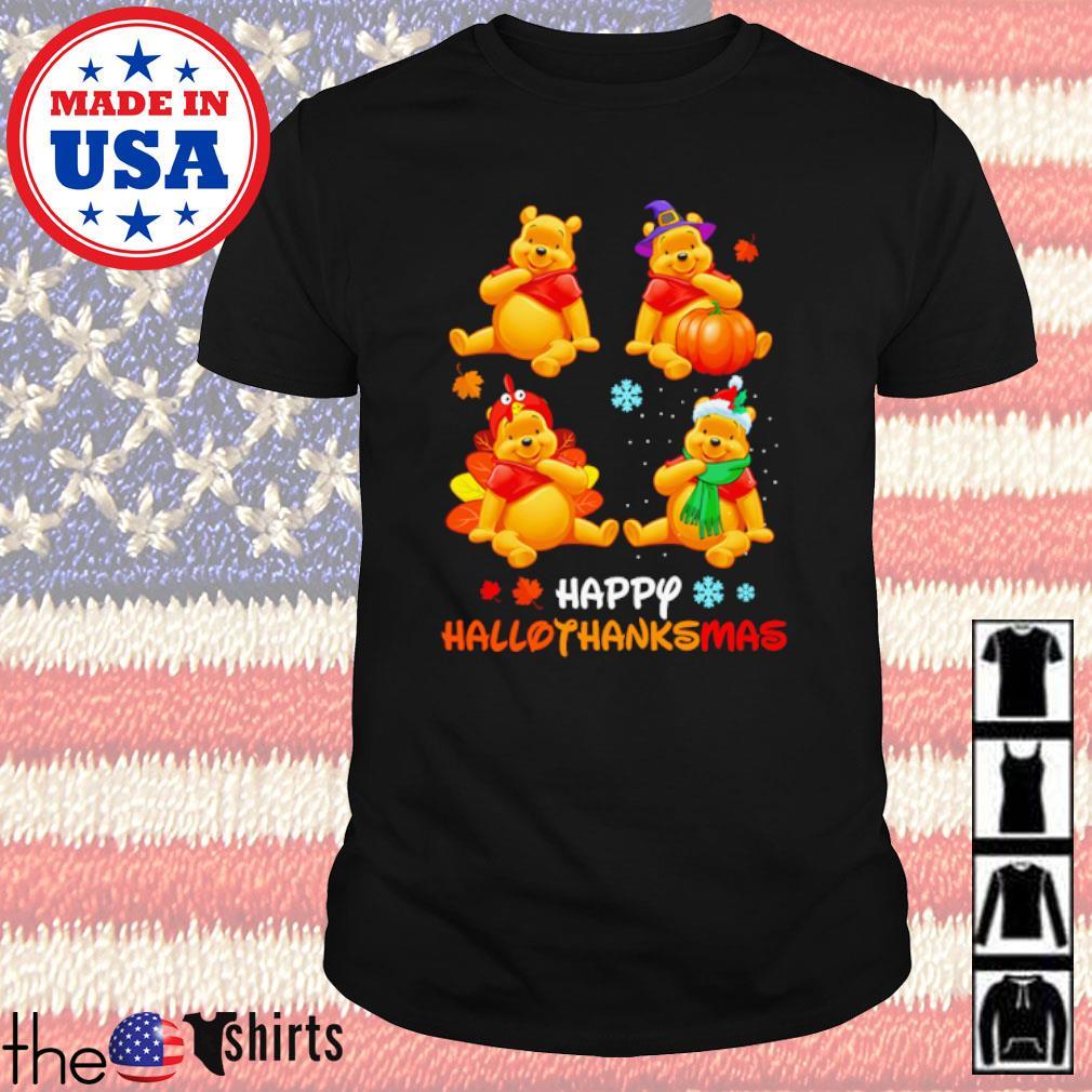 Winnie The Pooh Happy Hallothanksmas Halloween and Christmas shirt