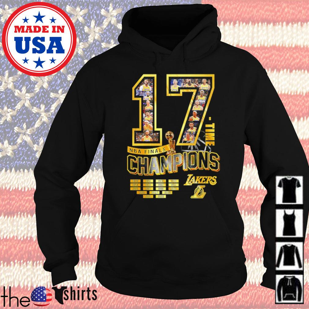 17 Time NBA finals champions Los Angeles Lakers signature s Hoodie