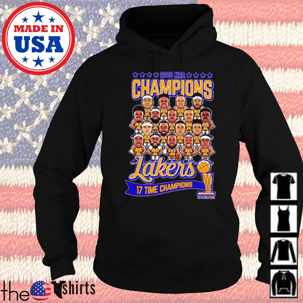 2020 NBA Champions Los Angeles Lakers 17 time Champions s Hoodie