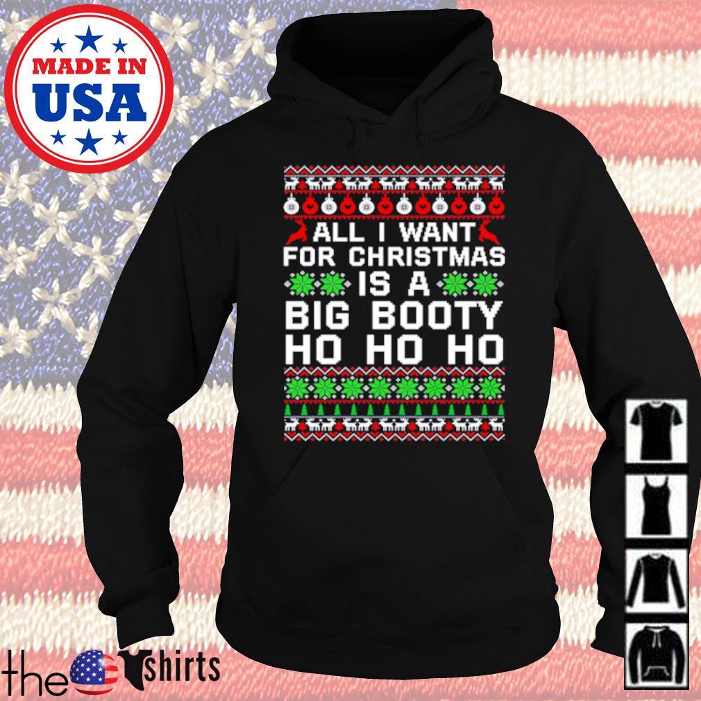 All I want for Christmas is a big Booty Ho Ho Ho ugly Christmas sweater Hoodie