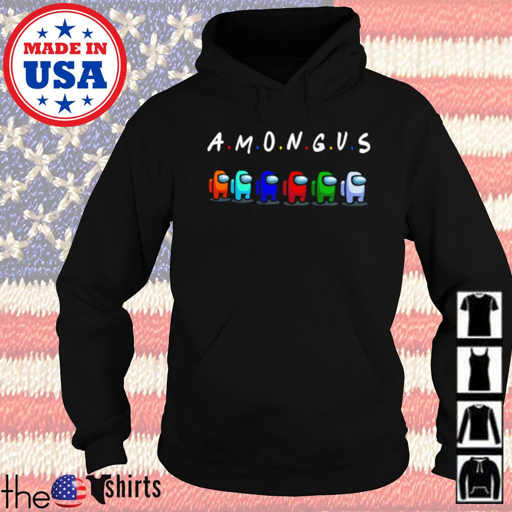 Among us with friend s Hoodie Black