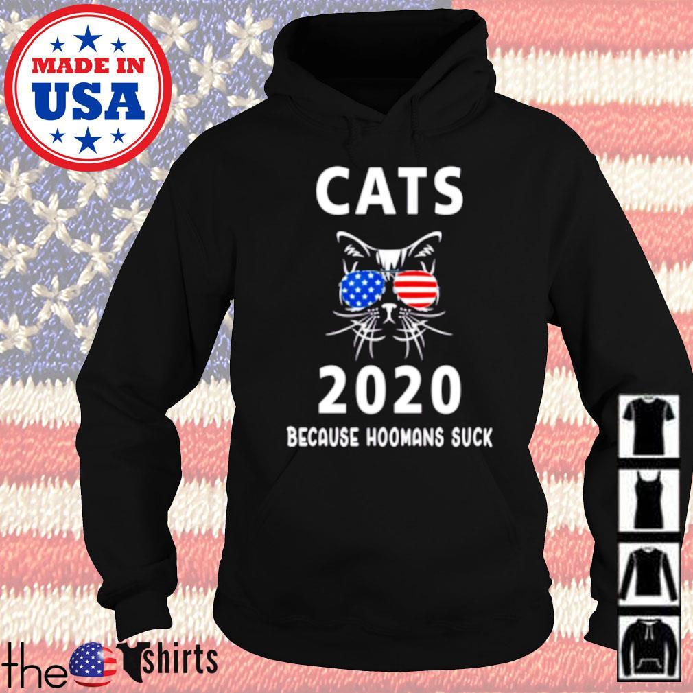 Cats wearing glasses America 2020 because hoomans suck s Hoodie