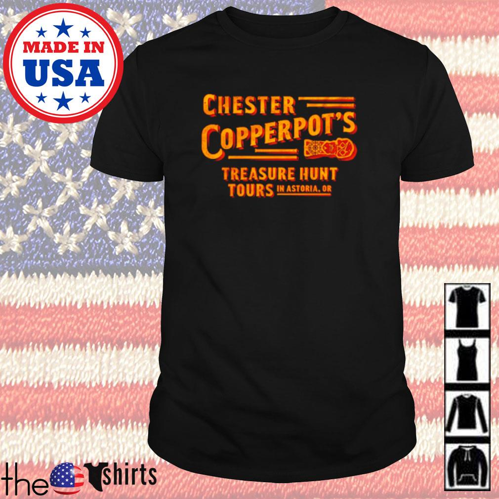 Chester Copperpot's treasure hunt tours in astoria shirt