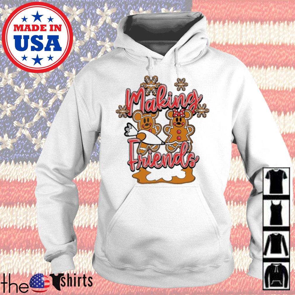 Christmas Mickey and Minnie Mouse cake making Friends sweater Hoodie