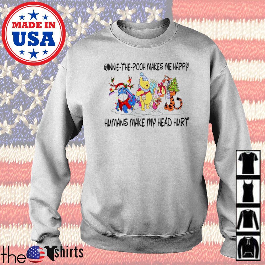 Eeyore and Tigger Winnie-the-pooh makes me happy humans make my head hurt Christmas sweater